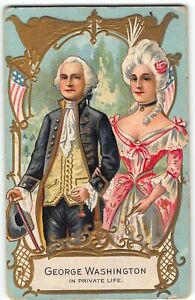 George Washington Birthday Series - PRIVATE LIFE w/ MARTHA - 1909 Postcard