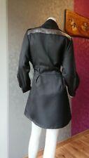 trench manteau chic noir strass 38 40 veste parka luxe hiver blouson femme
