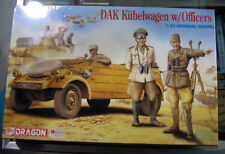 1/35 Dragon WW II German DAK Kubelwagen w/ Officers Rommel & Observation Officer