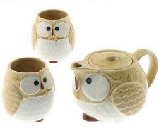"Japanese Tea Set Owl Kizeto Happy ""FUKURO"" / New in Box/Made in Japan"