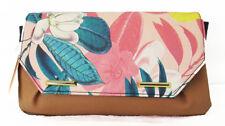 ** DANIELLE NICOLE RAQUEL Multi-Colored Leather Floral Print Clutch Msrp $48.00