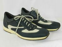 Bacco Bucci Mens Blue Leather Fashion Lace Up Oxford Sneaker Italy Mens Size 15