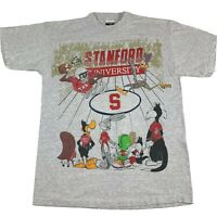 VTG 90s Looney Tunes Stanford Cardinal T-Shirt XL Bugs Bunny Taz Marvin Martian