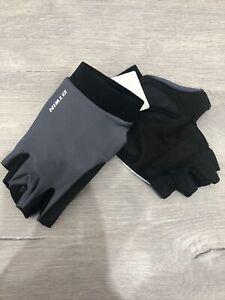 Mens Btwin Cycling Bike Gloves Grey And Black XXXL