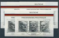 5 x Bund Block 11 gestempelt ESST Bonn BRD 871 - 873 Nobelpreisträger used