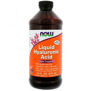 NOW Foods Liquid Hyaluronic Acid  - 16 fl. oz. - Berry Flavor - JOINT SUPPORT