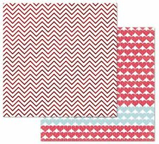 2 Sheets of My Mind's Eye CUPID'S ARROW 12x12 Foiled Paper - CHEVRON