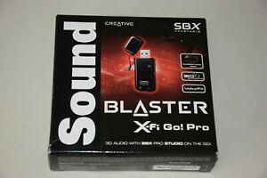 Creative Sound Blaster X-Fi Go Pro USB SBX SB1290 Audio Sound Card - New