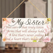 My Sister Has A Heart thats made of gold - Gift Plaque For A Special Sister