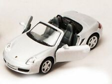 "New 5"" Kinsmart Porsche Boxster S Convertible Diecast Model Toy Car 1:34 Silver"