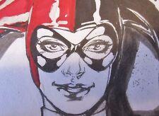ORIGINAL Harley Quinn Caio PinUp Full Commission Batman Joker Suicide Squad btas