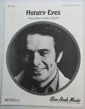MERLE HAGGARD Sheet Music HUNGRY EYES Charles Hansen Publ. COUNTRY WESTERN