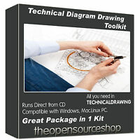 Technical Drawing Software Kit – Draw Professional Level Diagrams & Flow Charts