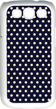Navy Blue and Pink Polka Dot Design Samsung Galaxy S3 Case Cover