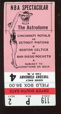 Circa 1969 NBA Basketball Doubleheader Ticket Stub Royals Pistons Celtics EX