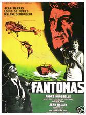 Fantomas Jean Marais Louis De Funes movie poster print