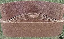 "10pc 4 "" X 36 "" 80 GRIT SANDING BELT butt joint sand paper made in USA Aluminum"