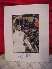 CONNECTICUT HUSKIES JEFF ADRIEN SIGNED DUNK MATTED 8X10