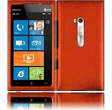 For AT&T Nokia Lumia 900 Rubberized HARD Case Snap On Phone Cover Rubber Orange