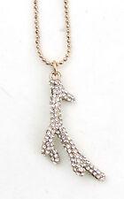 sweet deluxe Halskette Halsband mit Anhänger Koralle aus Strass neu