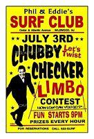 CHUBBY CHECKER 1964 Wildwood NJ SURF CLUB Art Rendition POSTER THouse 2016