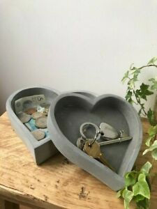 Heart Shaped Cement Trays Med & Small - Sold Individually