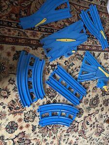 Tomy Trackmaster Track Bundle Double 3 Way Diverter Etc 2 Way Light Blue Thomas