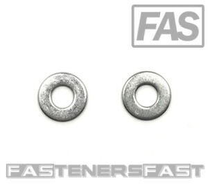 """(100) 1/4"""" Stainless Steel Flat Washer (100 PCS) Fast Free Shipping"""