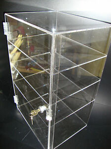 "305Displays Acrylic Countertop Display Case 12"" x 9 1/2"" x 19"" Locking Showcase"