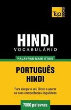 Vocabulario Portugues-Hindi - 7000 Palavras Mais Uteis by Andrey Taranov...