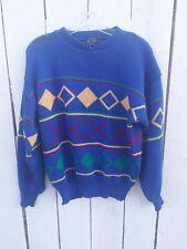 Vintage Izod Geometric Shaped Sweater 100% Acrylic Size Large