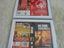 Bruce willis TWELVE MONKEYS DIE HARD VENGEANCE Bundle Cover Vhs sleeves Framed