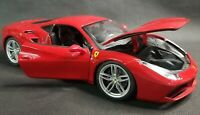 Maisto Ferrari 488 GTB 1/18 Scale Diecast Model Red Supercars Detailed Used