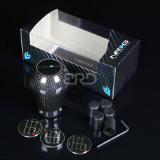 NRG ALUMINUM 50MM TYPE-R STYLE 5-/6-SPEED GEAR SHIFTER SHIFT KNOB CARBON FIBER