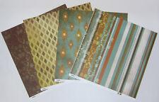 """8 Kaisercraft Double Sided Jade's Garden Scrapbooking Paper 12""""x12"""" Card Making"""