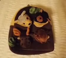 Child's Unipak Forest Animal Backpack Bison Bear Moose Wolf Perfect Condition