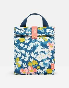 Joules Home Roll Top Bag - Blue Floral - One Size