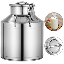 10l 264 Gallon Stainless Steel Milk Can Wine Pail Bucket Tote Jug In One Piece