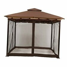 New listing Gazebo Mosquito Netting Screen Walls for 10' x 12' or 11'x 14' 10x12 brown