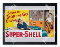 Historic Super-Shell Advertising Postcard