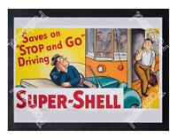 Historic Super-Shell Advertising Postcard