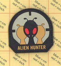 PVC ALIEN HUNTER PATCH CONSPIRACY ILLUMINATI UFO MILITARY SPACE LIFE KILL WAR