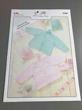 Teddy Tricoter Motif-Cardigans & Bonnet - 30 To 50 cm (7162)
