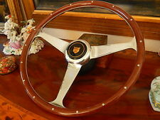 "Jaguar XJS 1990  96 Wood Steering Wheel Fit Airbag Model Rivets Engraved 15"" New"