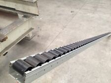 2 x Gravity conveyor rollers $40ea track 40mmH x 56mmw x 2310L