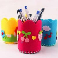 Pen Container Pencil Holder Craft Toy DIY Kit Educational Gift Handmade Child Q