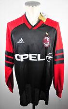 AC Milan Vintage Maillot Entraînement Taille XL Adidas Jersey OPEL MILAN ACM 90er
