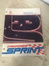 Atari Championship Sprint Arcade Manual