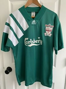 """VINTAGE 1992 ADIDAS 3rd LIVERPOOL 100TH ANNIVERSARY JERSEY MEN'S SIZE 42""""-44"""" XL"""