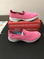 sketchers go walk 4 satisfy performance pink trainers size uk7 new in box ladies